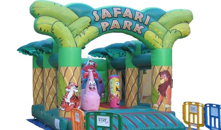 Castillo Hinchable Safari – Bob Esponja