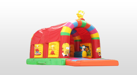 Castillo Hinchable Multisimpson