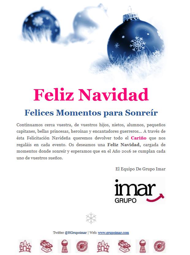 Felicitacion Navideña Grupo IMAR 2015